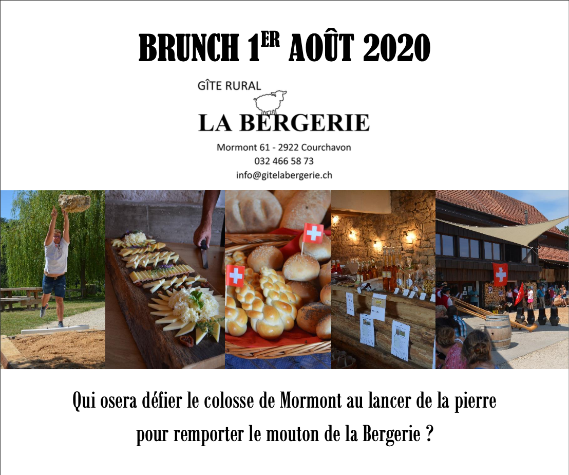 <h4>BRUNCH DU 1er AOUT 2020</h4>
